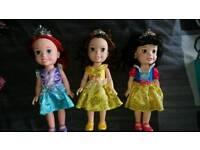Disney Princess dolls ariel, snow white, belle
