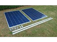 2 x 265watt 30volt solar panels