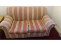 2 seater sofa, used but worn but overall good condition, must be collected