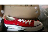 Brand new red convers