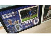 Eden Hazard hand signed A2 framed photo display with Coa