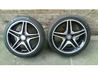 Mercedes 18 amg alloys wheels