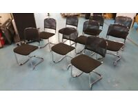 5 Black mesh cantilever stackable office/meeting/conference/boardroom chairs £55 each
