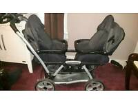 Mamas and Papas Duette double pram pushchair