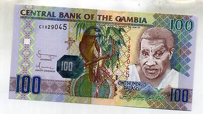 Gambia 100 Dalasis 2001 Bank Note Cu 2397D