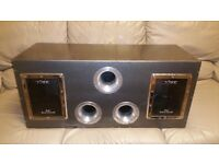 CAR TWIN SUBWOOFER VIBE CBR 12 3600 WATT AC SERIES IN BANDPASS ENLOSURE DOUBLE SUB WOOFER BASS BOX