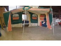Trailer tent can sleep 6 to 8