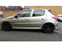 Peugeot 206 2.0 hdi 2004 long mot gti 180 alloys all new tyres lowered drives really well