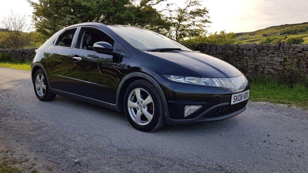 2008 Honda Civic Es I Ctdi Black Panoramic Roof Full