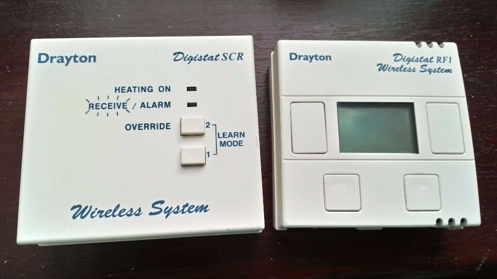drayton digistat rf1 thermostat wireless system complete. Black Bedroom Furniture Sets. Home Design Ideas