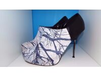 'Dorothy Perkins' Branches Design Stiletto Boots Size 9/43 Vgc!