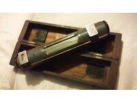 Engineers Spirit Level In wooden Box - Vintage Cooke