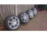 AUDI RS4 REP 18 ALLOYS IN GOOD CONDITION ALL TIRES ALMOST NEW