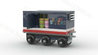 CUSTOM LEGO TRAIN BOXCAR for the POLYBAG set #30575 INSTRUCTIONS ONLY!!