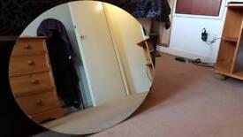 Bathroom mirror oval
