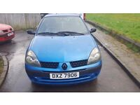 2002 renaut clio 1.2 with mot for sale