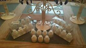 Large collection of wedding candles etc..plus small cake style candles as new