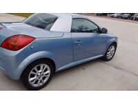 Vauxhaul Tigra Convertible. Lovely car, two tone blue and silver MOT June 2017