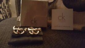 Calvin Klein 'Enlace' silver earrings. Brand New.