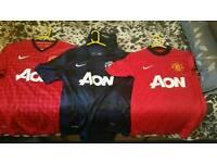 3 Manchester united shirts