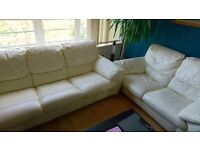 3-2 Seater Real leather sofa smoke and pet free home deliver within reason