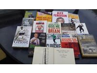 Football Books - a collection of 15 football biographies (1951 to 2014)
