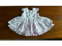 Girls 0 to 3 months floral dress