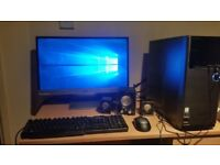 ASUS M32 SERIES Desktop PC Windows 10 - With HP Monitor, Dell Keyboard, Microsoft Mouse and Speakers