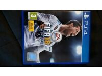FIFA18 game for PS4