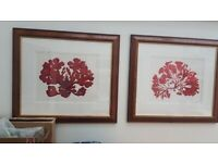 DFS large picture frames x 2