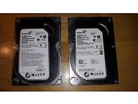 2 x 500 GB SATA Desktop pc hard drives Seagate Barracuda 7200 rpm
