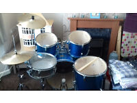 Stagg 'Tim' 5 Piece Drum Kit - cymbals and hardware