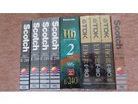 VHS Video Cassettes brand new, sealed