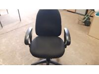 Executive black office chairs with armrests