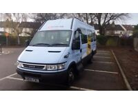 Mini bus Iveco daily 17 seats minibus diesel 1 owner from new low 43000 milage