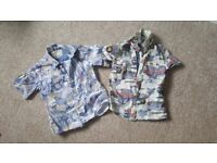 Boys shirts age 2-3 and 3-4. Next M&S