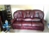 italian leather sofas .3 seater and 2 seater