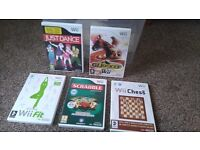Wii package and games. All acessories.