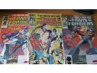 Original Transformes Marvel comics 1984 issues 1 to 3