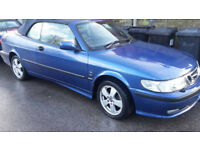 SAAB 9-3 2L CONVERTIBLE 2002 BLUE