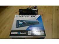 Kenwood KDC-X7000 DAB single din car stereo boxed rear USB lead Ipod