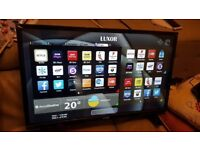 BOXED LUXOR 32-inch Smart FULL HD LED TV COMBI,built in Wifi, DVD PLAYER,Freeview PLAY,Fully Working