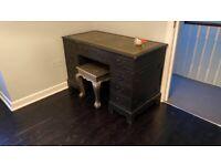 Bureau desk, Annie Sloane black chalk paint