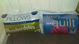Luxery quilt and bounceback pillow
