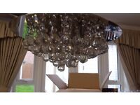 Semi Flush Light Fitting with crystal balls
