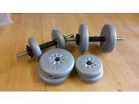 York spinlock barbells set