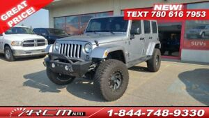 2015 Jeep Wrangler Unlimited SAHARA LOW KILOMETERS LIFTED LOW KM