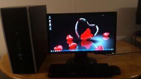 HP Elite Home & Business PC Desktop Computer & Benq 20inch LCD Widescreen