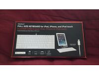 FULL SIZE KEYBOARD FOR IPAD/PHONE/IPOD BY MACALLY BNIB