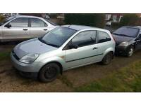 Ford fiesta 1.25 lx 53 plate spares or repairs